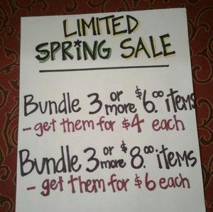 Spring Sale -  Read Details